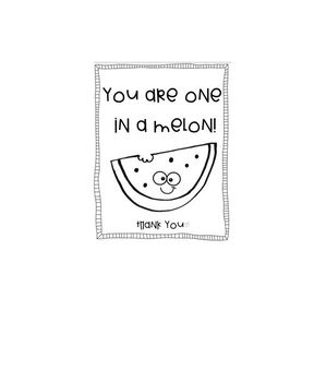 Thank you - One in a melon