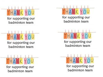 Thank you badminton notes