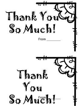 Thank you card (Thank you book)