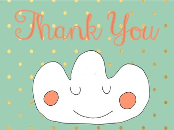 Thank you card cloud