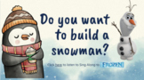 Thank you card for teachers- Winter Edition- Do you want to build a snowman?