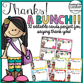 Thank you cards-Editable