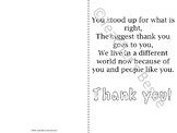 Thank you cards - Martin Luther King Day