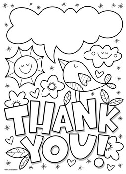Thank You Coloring Page Worksheets Teaching Resources Tpt