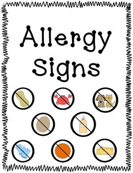 Thank you cubed! Allergy Signs