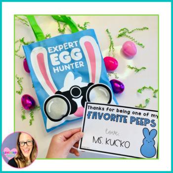 Favorite Peeps- Editable Easter Gift Tags