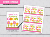 Thank you for helping me Grow Teacher Gift Tag, Flowers Card Ideas