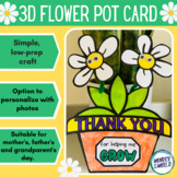 Mother's Day thank you for helping me grow 3D card