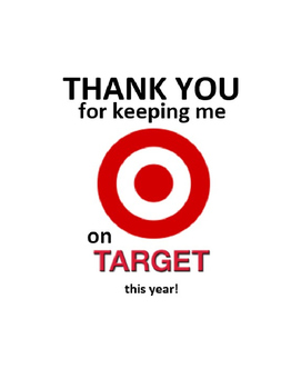 image regarding Printable Target Gift Card identify Thank oneself for holding me upon emphasis this yr
