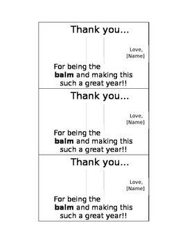 Thank you for parents... EDITABLE