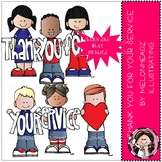 Thank you for your service clip art - Mini - Melonheadz Clipart