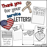 Thank you for your service letters! Perfect for Veteran's Day