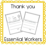 Thank you letter to essential workers *2 versions*