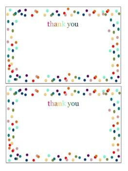 Thank you notecard