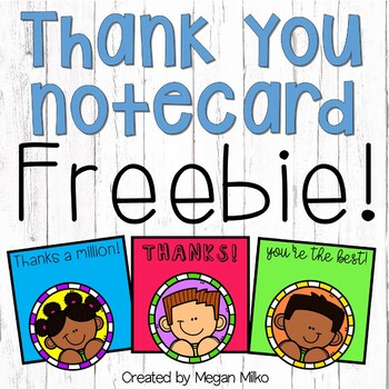 Thank you notecards FREEBIE