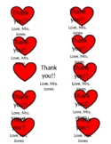 Thank you notes from teacher to students