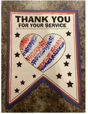 Thank you pennant banner veterans day art craft project me