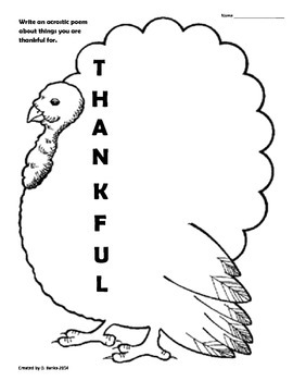 Thankful Acrostic
