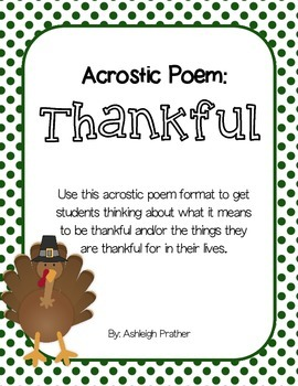 Thankful Acrostic Poem