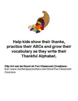 Thankful Alphabet