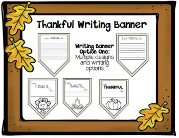Thankful Banner/ Thanksgiving Bulletin Board/ Thankful Leaves and Acorn