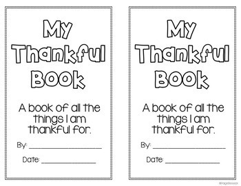 Thankful Book: I Am Thankful Writing Activity for Thanksgiving