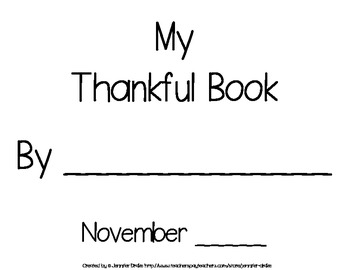 Thankful Book ~8 Page 'Rhyming Text' Book That Parents Will Cherish!~