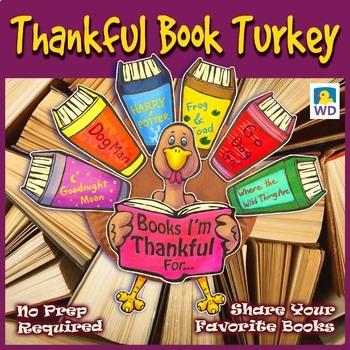 Thankful Book Turkey - Thanksgiving Paper Plate Craft