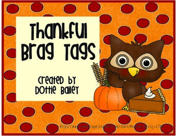 Thankful Brag Tags
