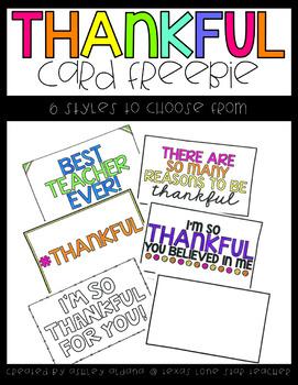 Thankful Card FREEBIE