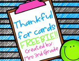 Thankful Cards FREEBIE!!