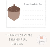 Thankful Cards - Thanksgiving Activity