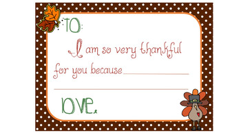 Thankful Cards for Students