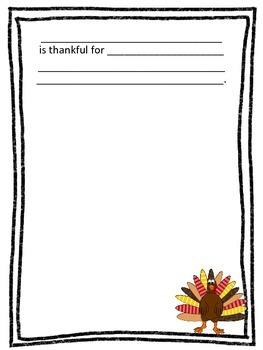 Thankful Class Book
