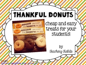 Thankful Donuts Gift Tag