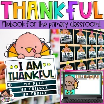 Thankful Flipbook for the Primary Classroom