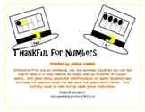 Thankful For Numbers: Using Tens Frames to Add or to Match