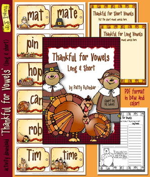 Thankful For Vowels Printable Activity