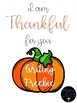 Thankful For You {Writing Freebie}