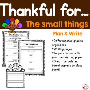 Thanksgiving Writing-  I am Thankful prompt