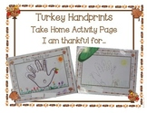 Thankful Handprint Take Home Activity