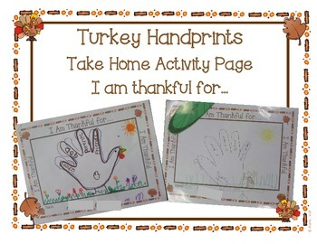 Thankful Handprint Take Home Activity