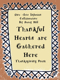Thankful Hearts Are Gathered Here (A Thanksgiving Poem)
