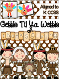 Gobble Til Ya Wobble on Thanksgiving {Activities Aligned to K CCSS}