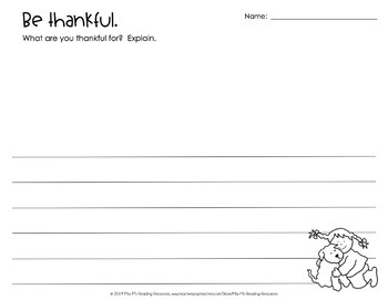 Thankful Interactive Read Aloud and Activities