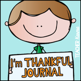 Thankful Journal: Gratitude Interactive Writing Booklet for Thanksgiving