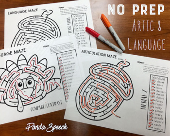 Thankful Mazes BUNDLE: A Speech Therapy Activity