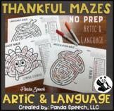 Thankful Mazes BUNDLE: A Speech Therapy Activity