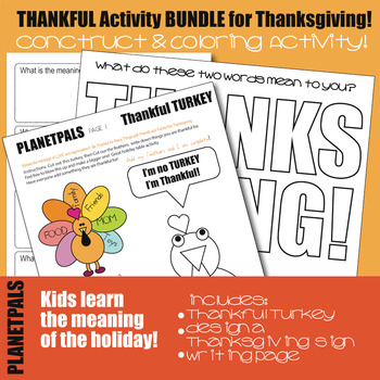 Thanksgiving Thankful Meaningful Design Color Construct Activities BUNDLE