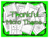 Thankful - Micro Theme Activity Book / Craftivity - Preschool